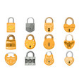 padlock lock for safety and security vector image