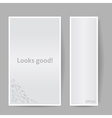 Banners with Shadow Looks Good Gray Color vector image