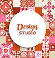 Design studio background mosaic tile decoration vector image