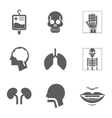 Medical care and health Isolated icons vector image
