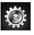metallic gear icon design vector image