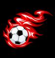 soccer flame symbol vector image
