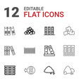 12 pile icons vector image vector image