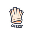 abstract hat chef logo design vector image vector image