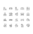 agricultural production line icons signs vector image vector image