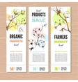 banners whith stems of cotton plants vector image