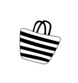 beach striped womens bag icon isolated on white vector image vector image