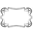 beautiful elegant framework for design vector image vector image