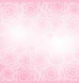 beautiful pink rose flower background vector image vector image
