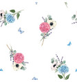 beautiful seamless pattern with watercolor vector image