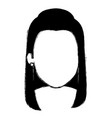 beautiful woman head avatar character vector image vector image