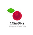 berry logo isolated on white background vector image vector image