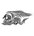 black dragon icon with wings vector image vector image