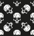black skull pattern on white background vector image vector image