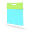 Blank plastic packaging vector image