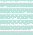 blue and white polka dot clouds vector image vector image