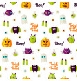 boo halloween seamless pattern vector image