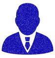 boss icon grunge watermark vector image vector image