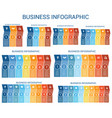 business infographic design for timeline vector image