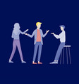 businessmen making handshake business etiquette vector image