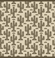 cactus seamless monochrome pattern vector image