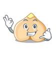 Call me chickpeas mascot cartoon style