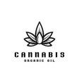 cannabis oil logo template vector image vector image