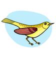 Cartoon beautiful yellow bird vector image