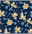 christmas hand drawn seamless pattern vector image vector image