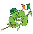 Clover Character Wearing A Green Hat vector image vector image