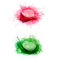 collection colorful abstract watercolor banners vector image vector image