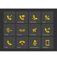 Communication call phone icons vector image