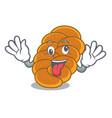 crazy challah mascot cartoon style vector image vector image