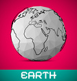 crumpled paper earth - globe on pink background vector image vector image