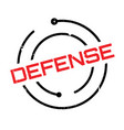 defense rubber stamp vector image vector image
