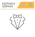 dress code editable stroke line icon vector image