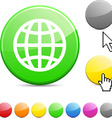 Earth glossy button vector image vector image