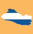flag of the republic of el salvador overlaid on vector image vector image