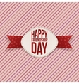 Friendship Day festive Emblem and red Ribbon vector image vector image