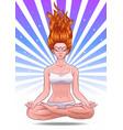 girl yoga classes levitation logo vector image vector image