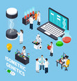 gmo isometric composition vector image vector image