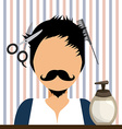 hair dressing vector image vector image