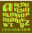 Hand drawn alphabet Letters and numbers vector image