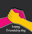happy friendship day design vector image vector image