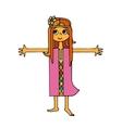 hippie girls hugs vector image