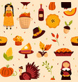holiday seamless pattern for thanksgiving day vector image