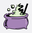 kettle doodle color icon drawing sketch hand vector image