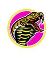 king cobra snake mascot vector image vector image