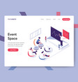 landing page template event space concept vector image vector image
