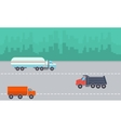 Landscape of transportation on the road vector image vector image